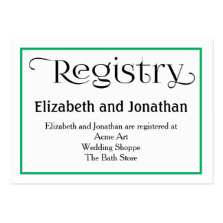 Simple Teal Quatrefoil Wedding Registry Card Pack Of Chubby Business Cards