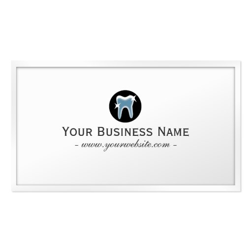 Simple Teeth icon Dentist Business Card