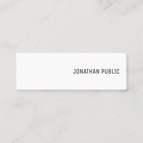Simple Template Modern Elegant Minimalist Trendy Mini Business Card
