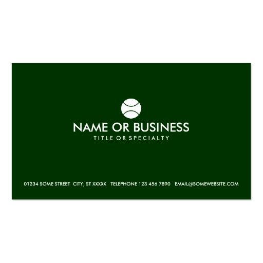 simple tennis business card