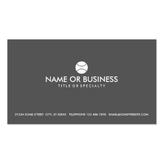 simple tennis business cards