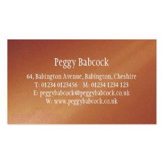 Simple Terracotta Orange Gradient Pack Of Standard Business Cards