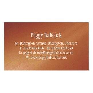 Simple Terracotta Orange Gradient Double-Sided Standard Business Cards (Pack Of 100)