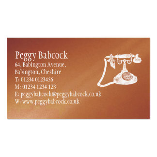 Simple Terracotta Orange with Phone Business Card Business Card
