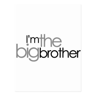 Simple Text Black and Gray Big Brother Postcard