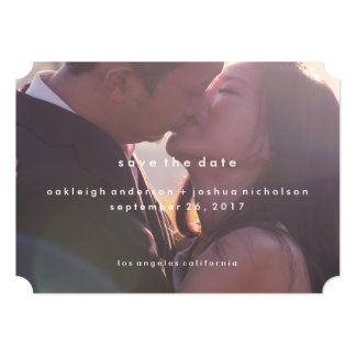 Simple Text | Modern Photo Save the Date Card