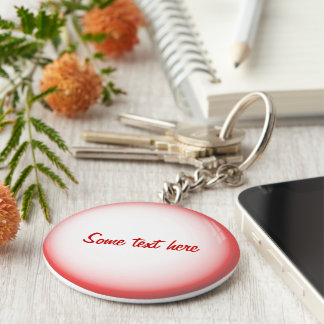 simple text on 3d glass ball basic round button keychain