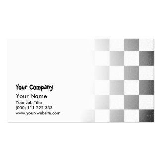 Simple textured checkerboard business card templates