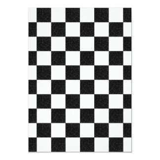 Simple textured checkerboard card