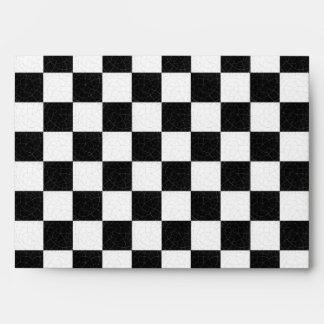 Simple textured checkerboard envelope