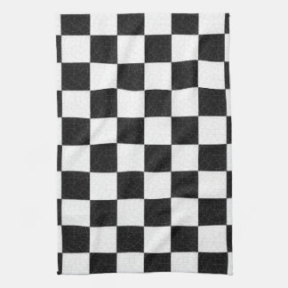 Simple textured checkerboard kitchen towel