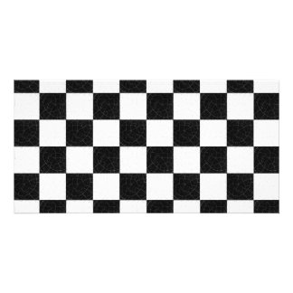 Simple textured checkerboard photo cards