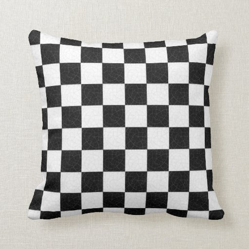 Simple textured checkerboard throw pillow