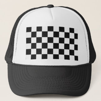 Simple textured checkerboard trucker hat