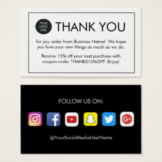 Thank you for your order business cards templates zazzle for Thank you business card