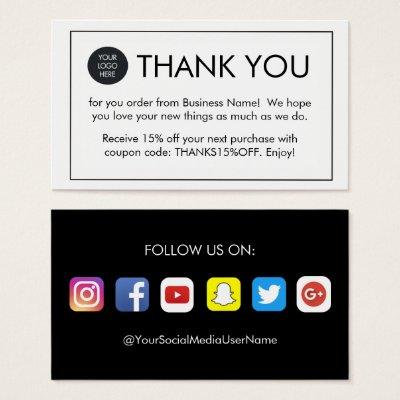 Customer appreciation social media icons square business card customer appreciation social media icons square business card zazzle reheart Image collections