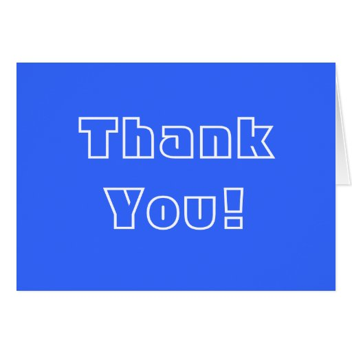 Simple Thank You Greeting Cards