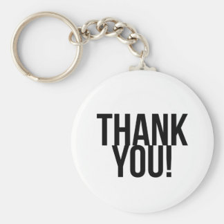 Simple Thank You Basic Round Button Keychain