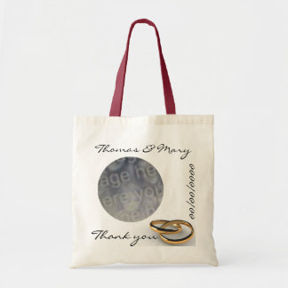 Simple Thank You Wedding Favor Tote Bag