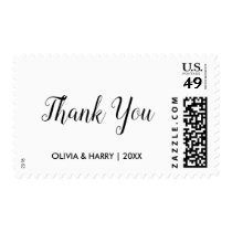 Simple Thank You Wedding Postage Stamp