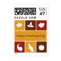 Simple Thanksgiving Icons Postage