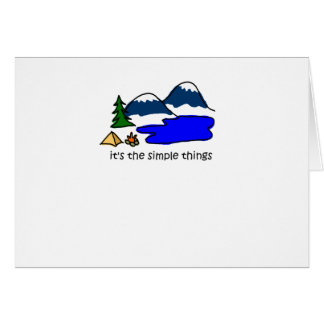 Simple Things - Camping Card