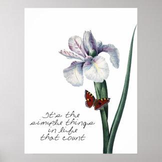 Simple Things Iris Poster