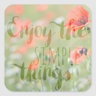 Simple Things Poppy Stickers