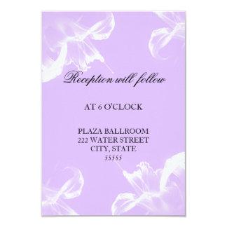 Simple Tiger Lily Floral Wedding Reception Card