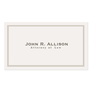 Simple Traditional Attorney Ivory Professional Double-Sided Standard Business Cards (Pack Of 100)