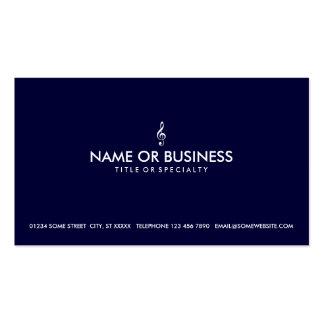 simple treble clef business card