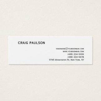 Simple Trendy Cute Plain White Business Card