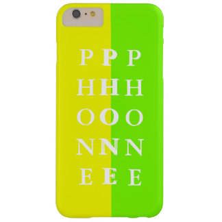 Simple Trendy iPhone Case Spring Lime Yellow 25 Barely There iPhone 6 Plus Case