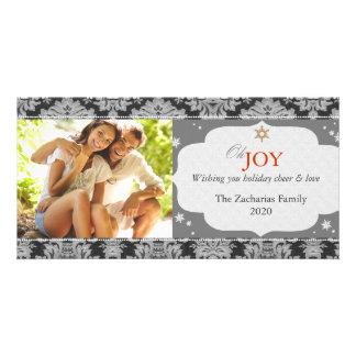 Simple Trendy Monotone Christmas Photo Card