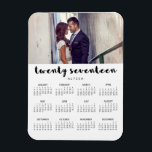 "Simple Trendy Typography 2017 Photo Calendar Magnet<br><div class=""desc"">This modern,  stylish 2017 calendar magnet features typography that says &quot;twenty seventeen&quot;,  personalized with your own name and photo.</div>"