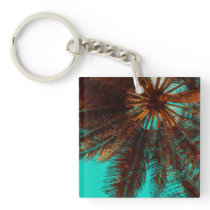 Simple Tropical Coconut Tree | Keychain