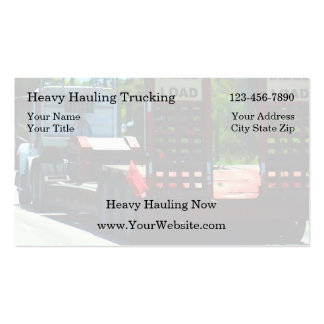 Simple Trucking Business Cards