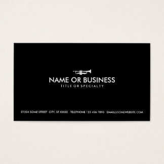 simple trumpet business card