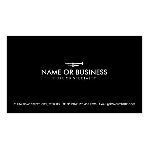 simple trumpet business cards