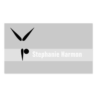Simple Tumbler Gymnast Gymnastics Symbol Business Card