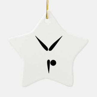 Simple Tumbler Gymnast Gymnastics Symbol Ceramic Ornament