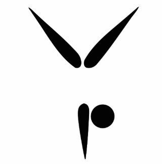 Simple Tumbler Gymnast Gymnastics Symbol Cut Outs
