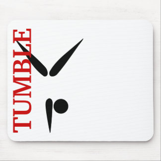 Simple Tumbler Gymnast Gymnastics Symbol Mouse Pad