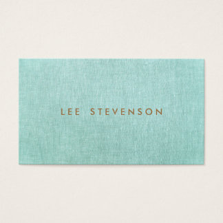 Simple, Turquoise Blue, Stylish Minimalist Business Card