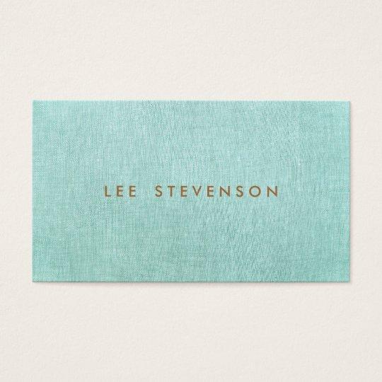 Simple turquoise blue stylish minimalist business card zazzle simple turquoise blue stylish minimalist business card reheart Gallery