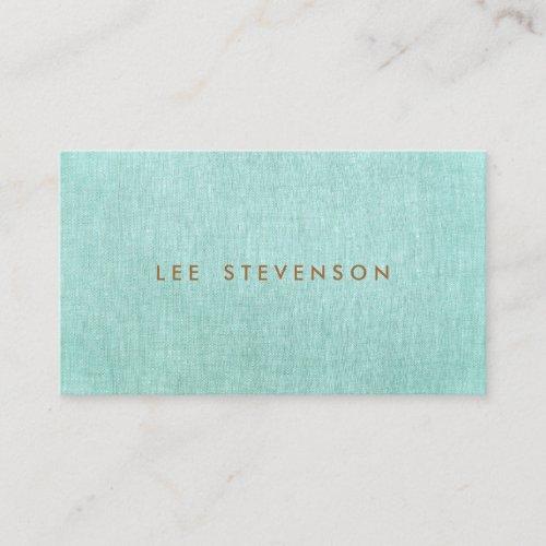 Simple Turquoise Blue Stylish Minimalist Business Card