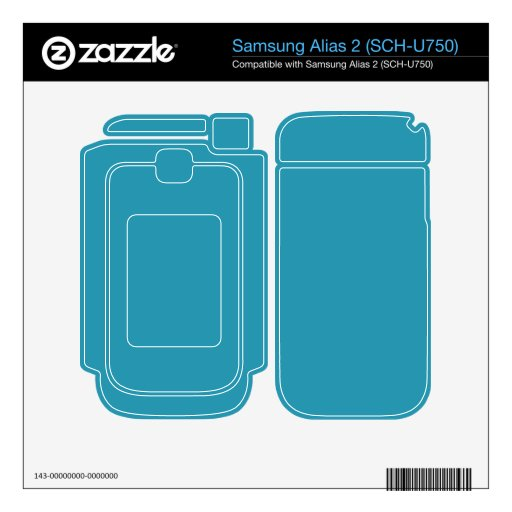 Simple Turquoise Color Samsung Alias 2 Skin