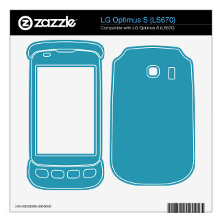 Simple Turquoise Color LG Optimus S Decal