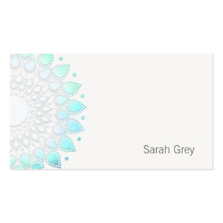 Simple Turquoise Foil Look Business Card