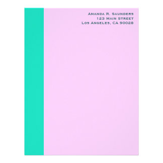 simple turquoise yellow letterhead